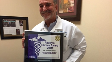 Dr. Joseph Torres wins Vitals 2019 Patients' Choice Award